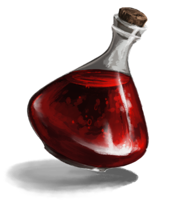 potion transparent red