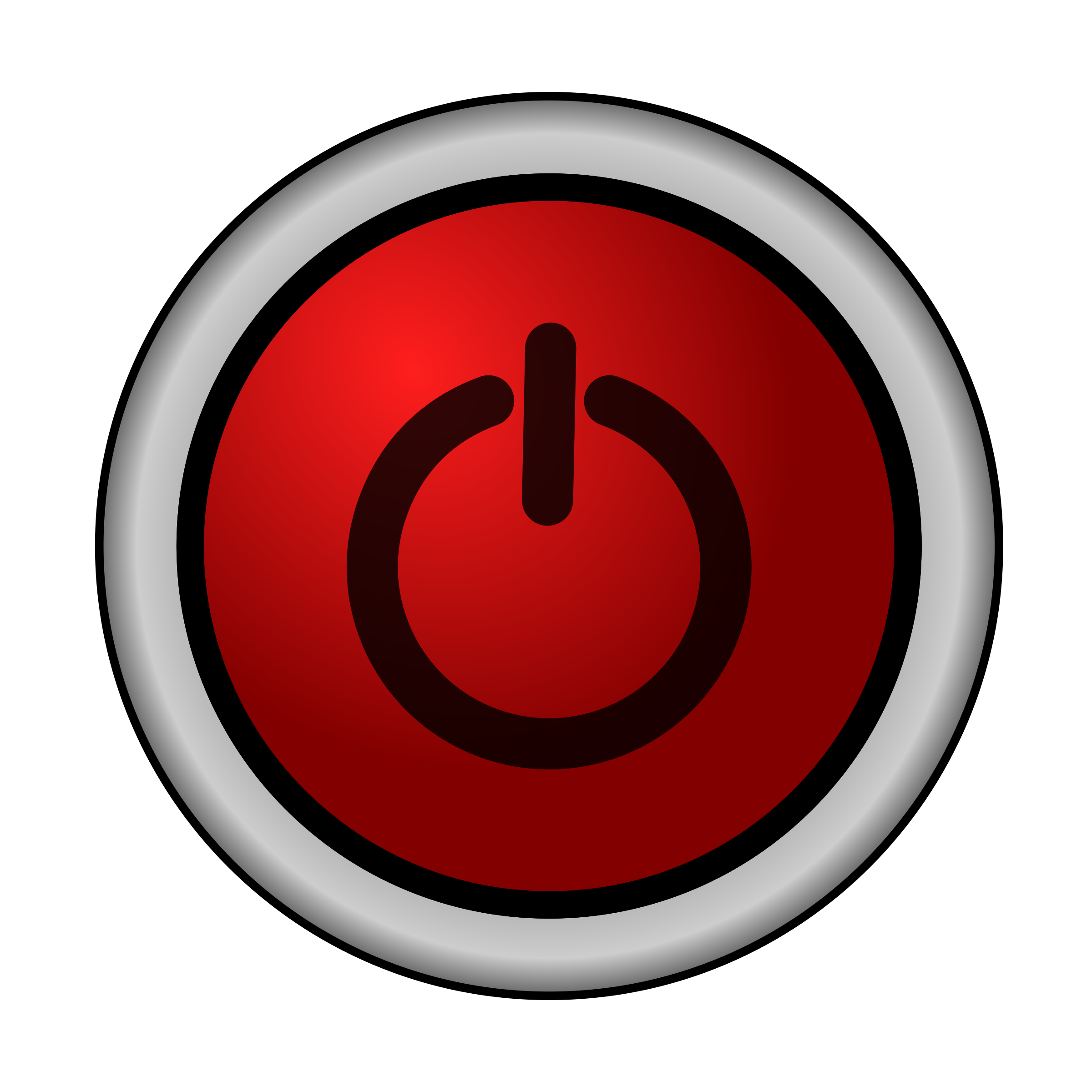 Red power button png. On off switch icons