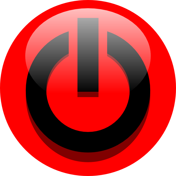 Red power button png. Icon black clip art