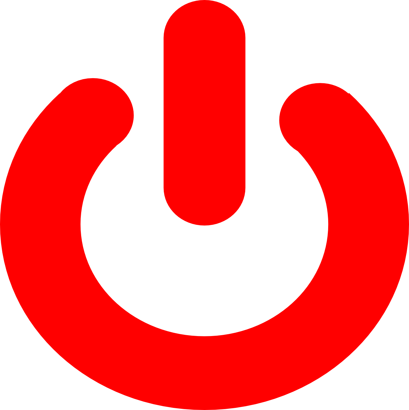 Red power button png. Free images at clker