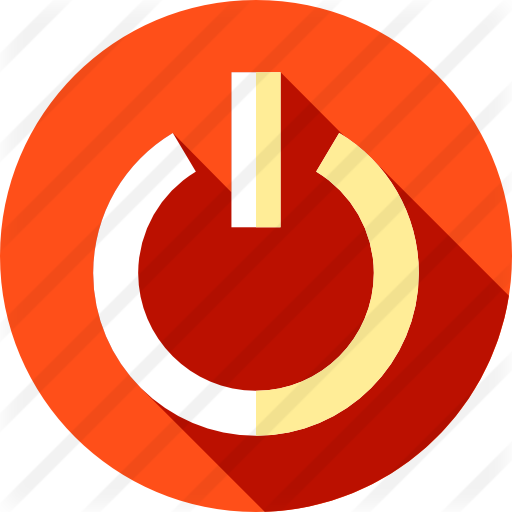 Red Power Button Transparent & PNG Clipart Free Download - YA-webdesign
