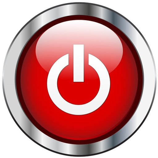 Red power button png. Cropped round bcb live