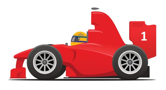 Red race car. Cartoon clipart clipartfest party