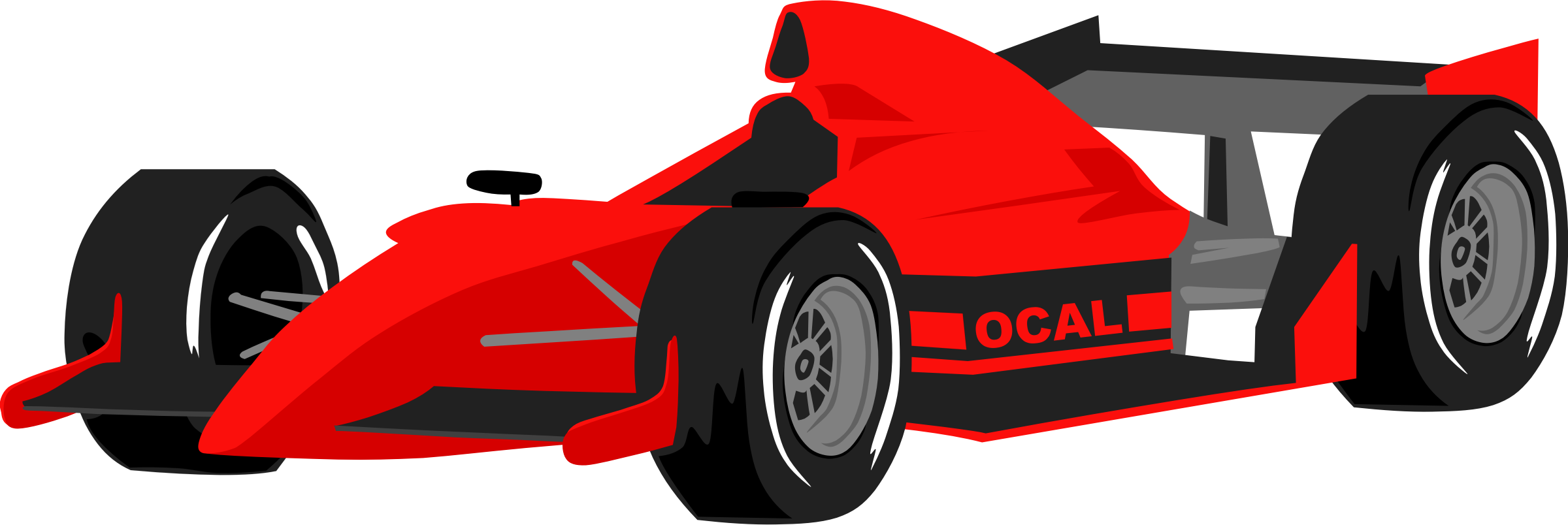 Red race car. Trend animated cars clipart
