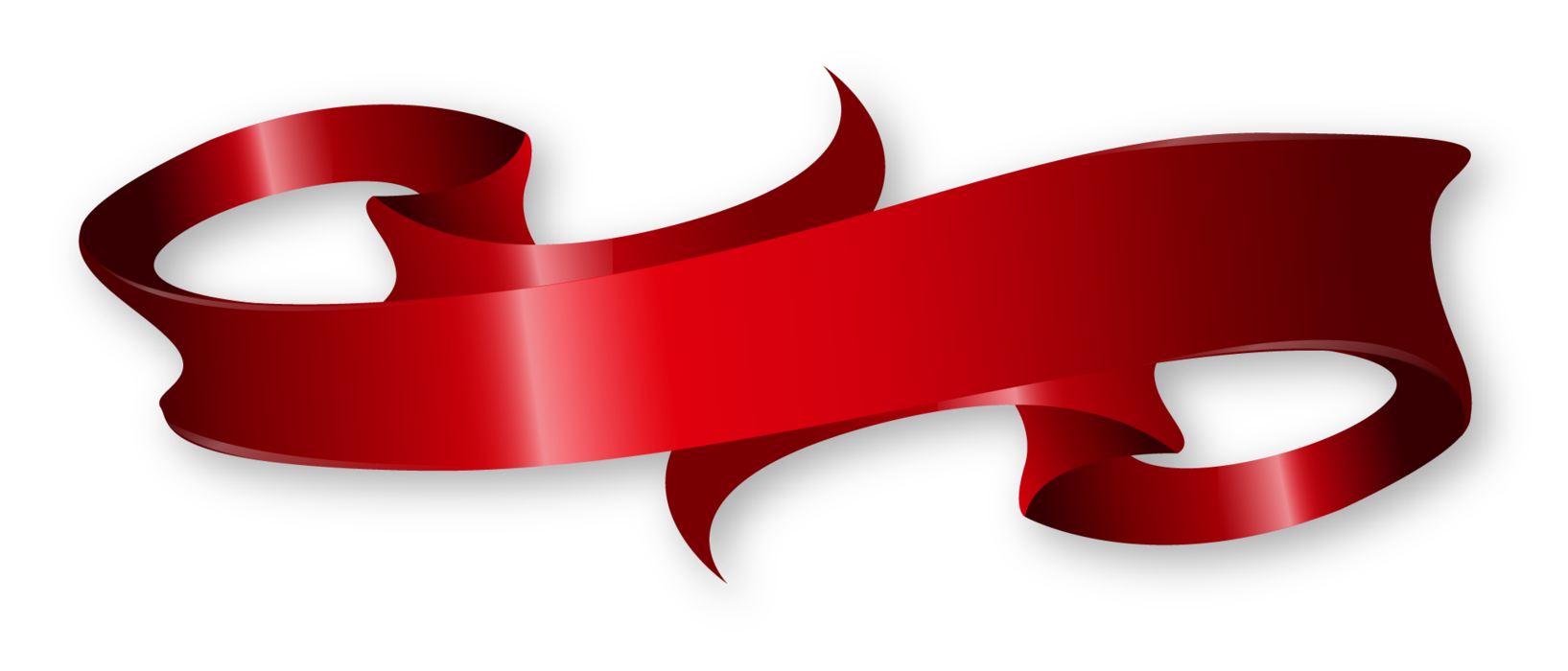 Red ribbon banner png vector black and white stock