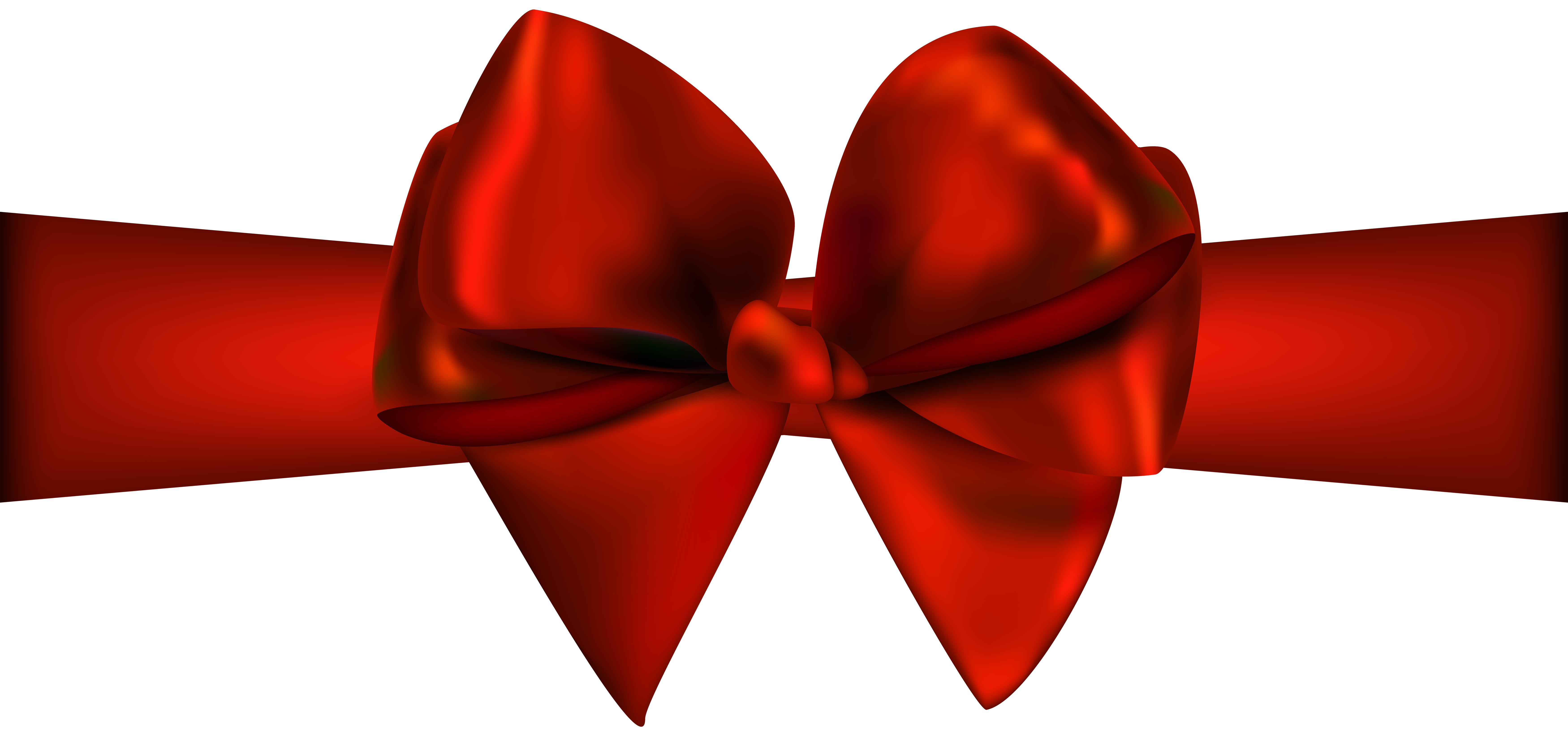 Red ribbon png. With bow clip art