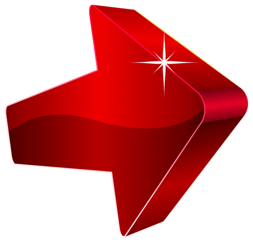 Red right arrow png. Download transparent clipart photo