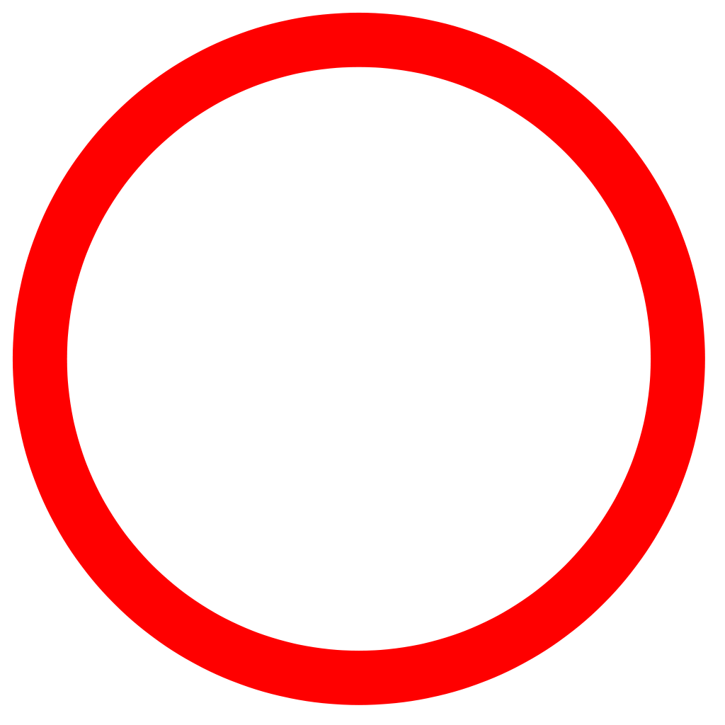 Red ring png. File cercle rouge svg