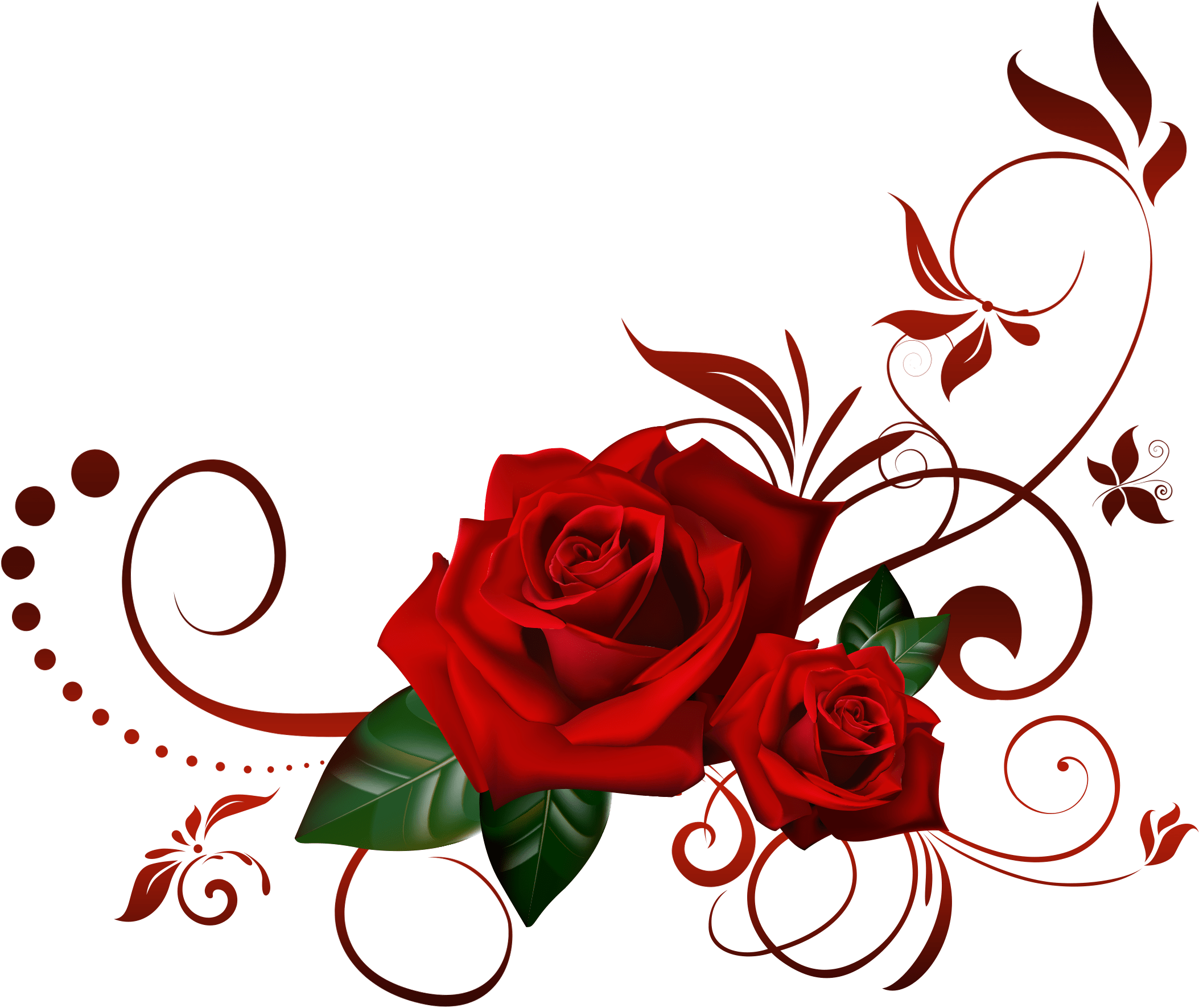 Red rose border png. Download the crown black