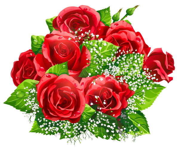 Red roses bouquet png. Beautiful decor clipart pinterest