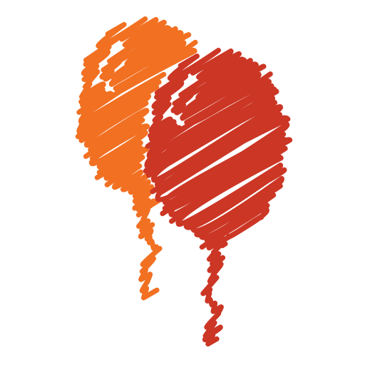 Red scribble png. Icons for free balloon