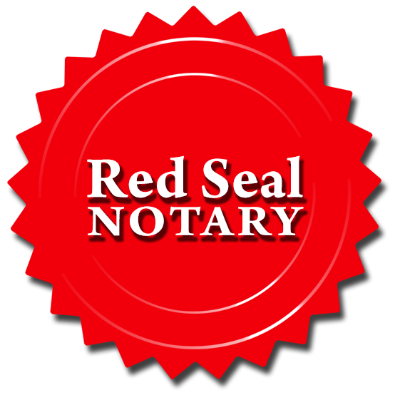Red seal png. Notary canada s national