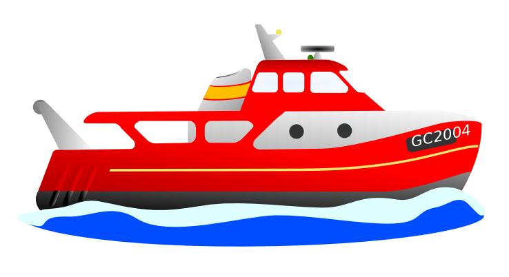 Red ship. Yacht cliparts free download