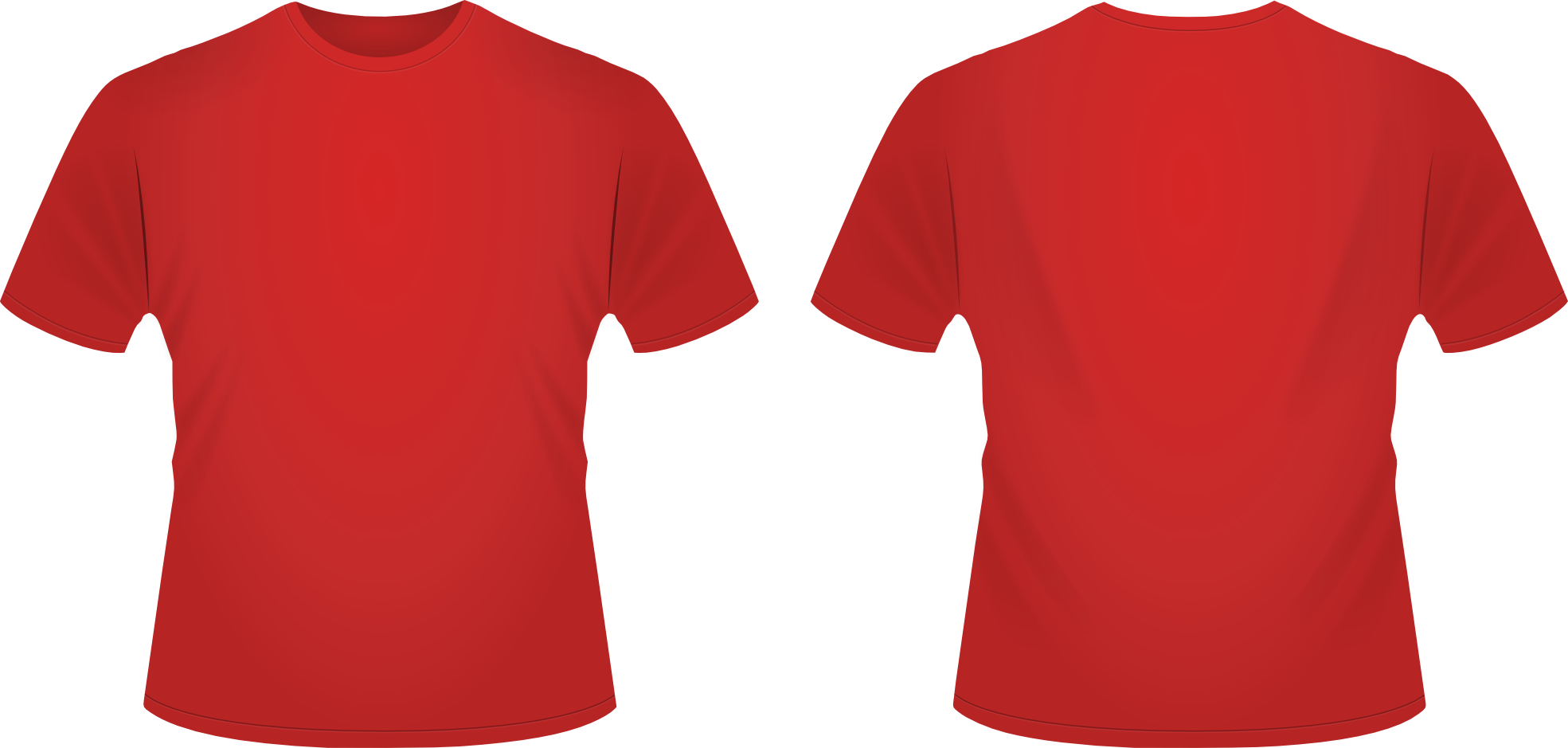 Vector shirts red. Plain t shirt template