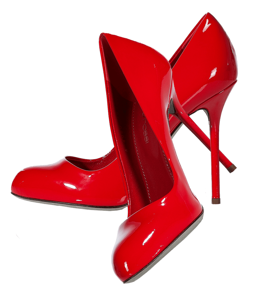 Red shoe png. Shiny pair of women