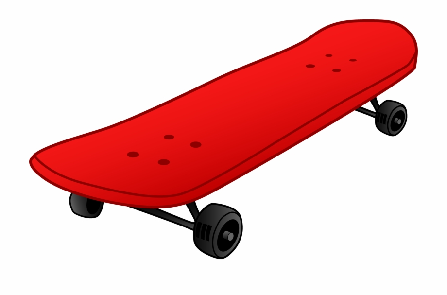 Red skateboard. Png hd clipart free