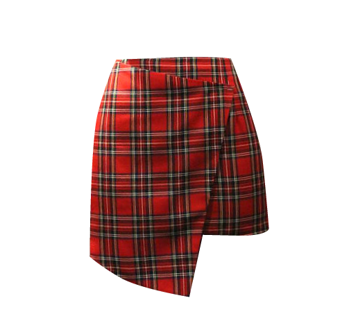 transparent skirts plaid
