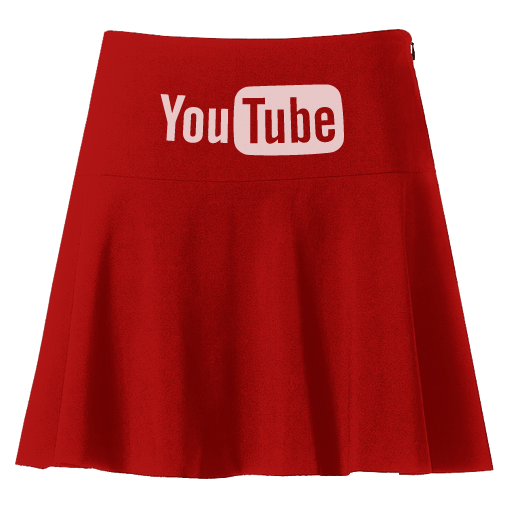 Red skirt png. Youtube icon clipart image