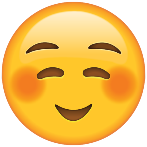 Red smiley face png. Download shyly smiling emoji