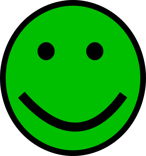 Red smiley face png. Green clip art at