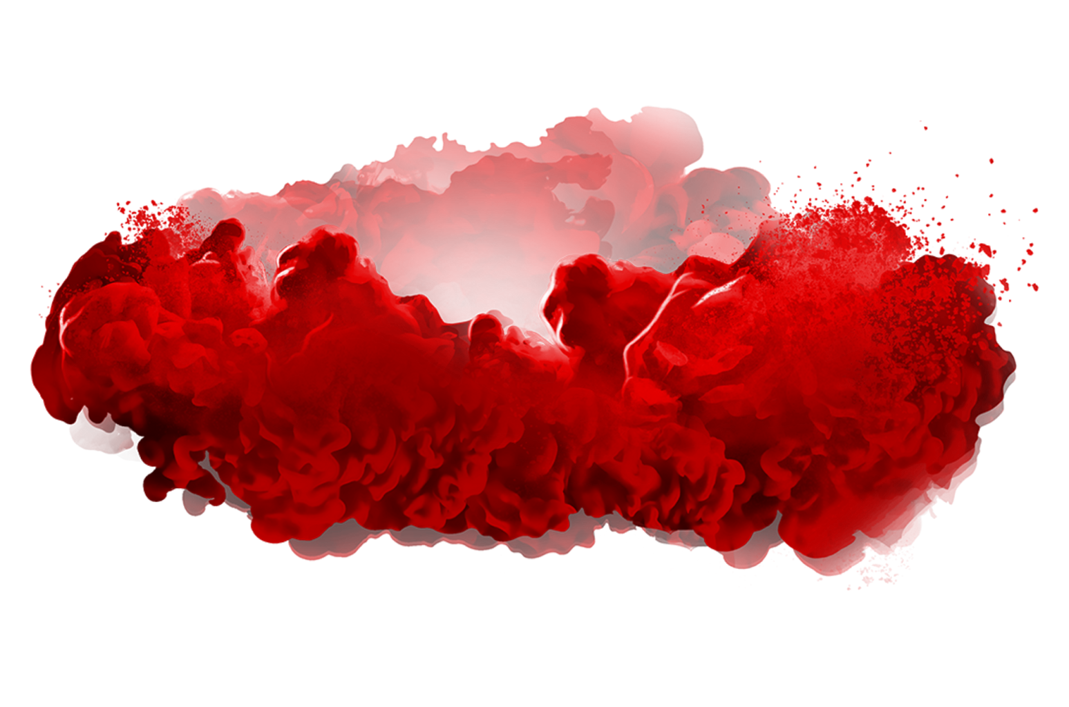 Red smoke png. Color ink paint explosion