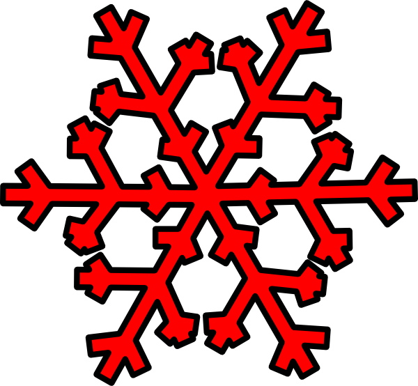 Snowflakes clipart red. Snowflake clip art at