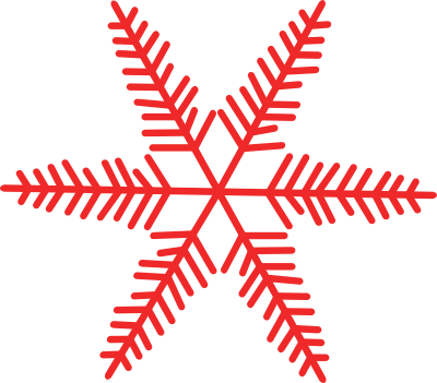 Snowflakes png red. Free snowflake cliparts download