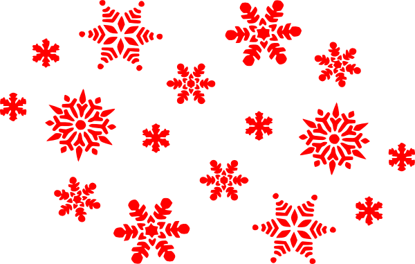 Red snowflake png. Collection of clipart