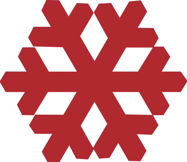 snowflakes clipart red
