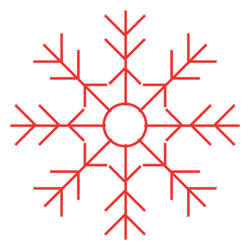 Red snowflake png. Flat icon transparent svg