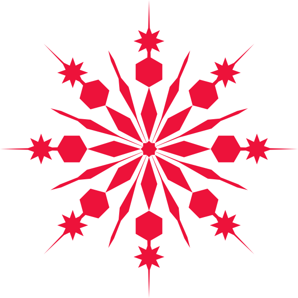 Red snowflake png. Clip art at clker