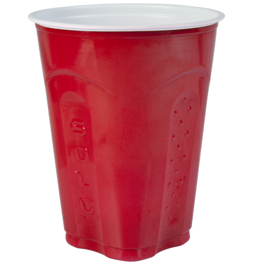 Red solo cup png. Squared plastic click drag