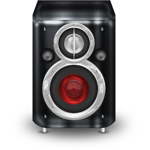 red speakers png