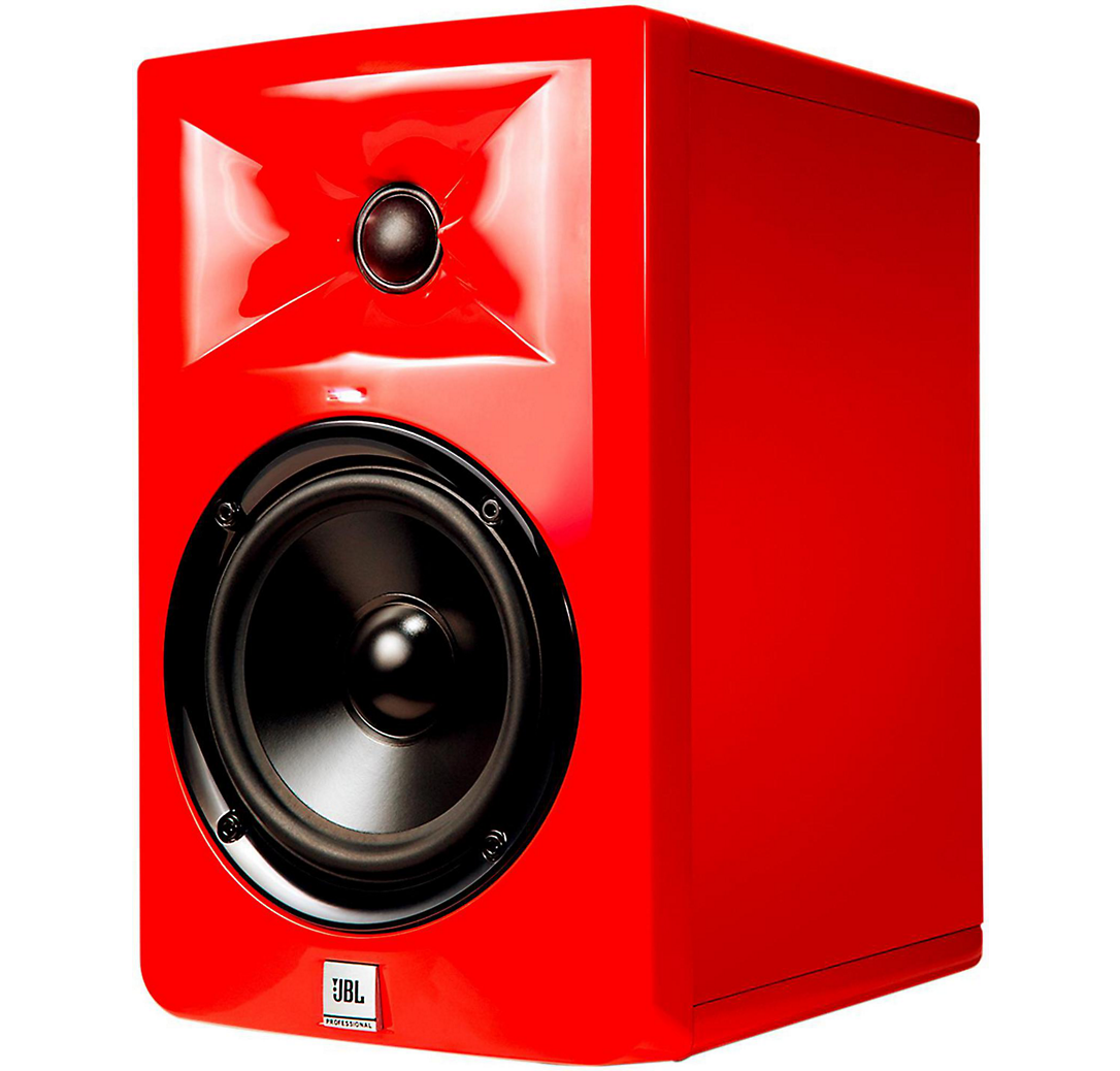 Red speakers png. Jbl lsr studio monitor