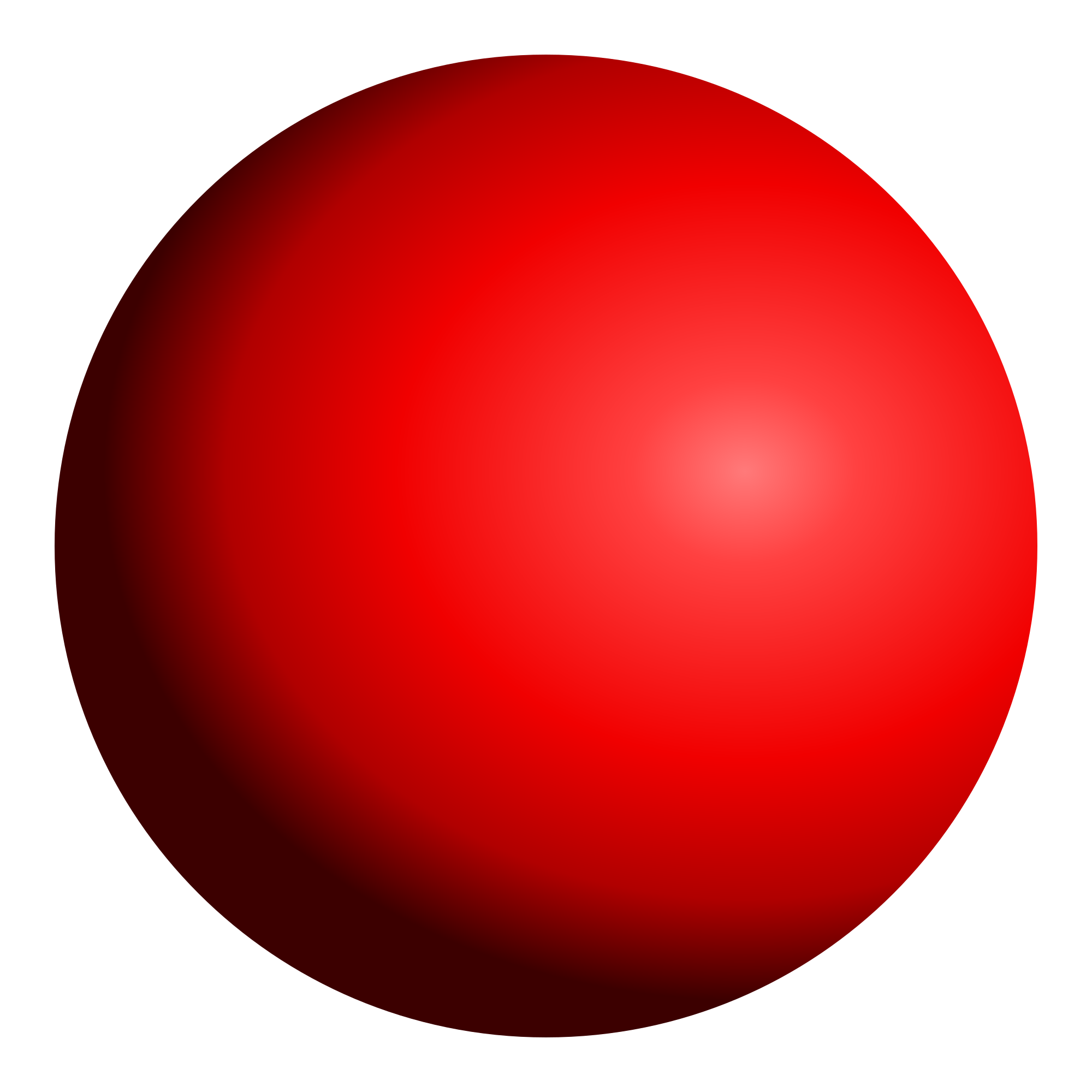 Red sphere png. File shaded lightsource top