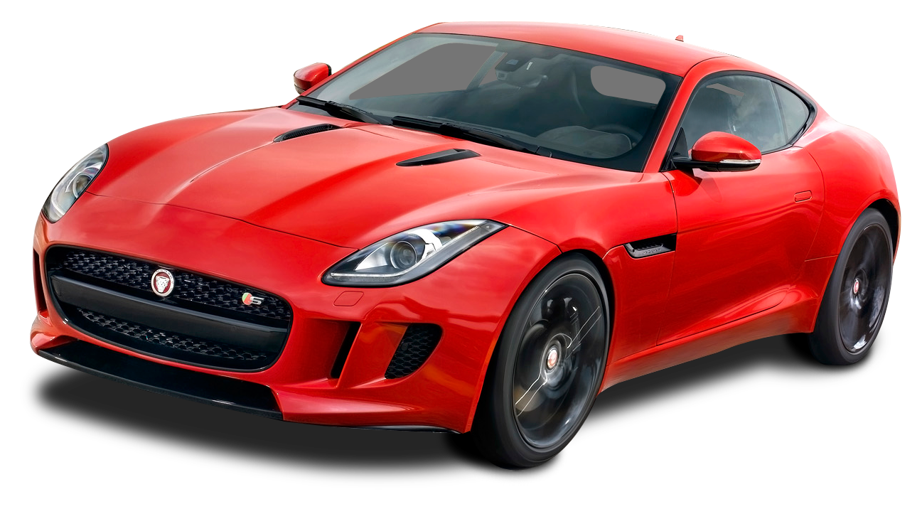 Red sports car png. Jaguar f type coupe
