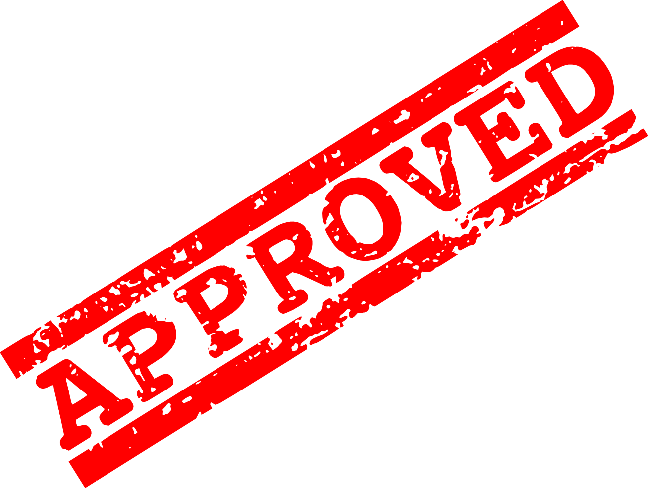 Red stamp png. Green approved transparent