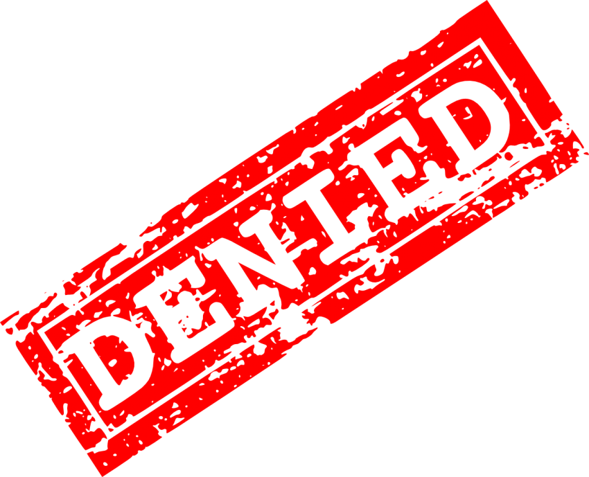 Denied stamp png