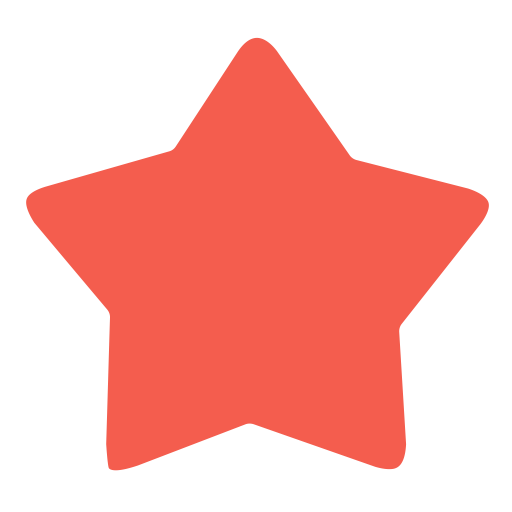 Red star png. Icon with and vector