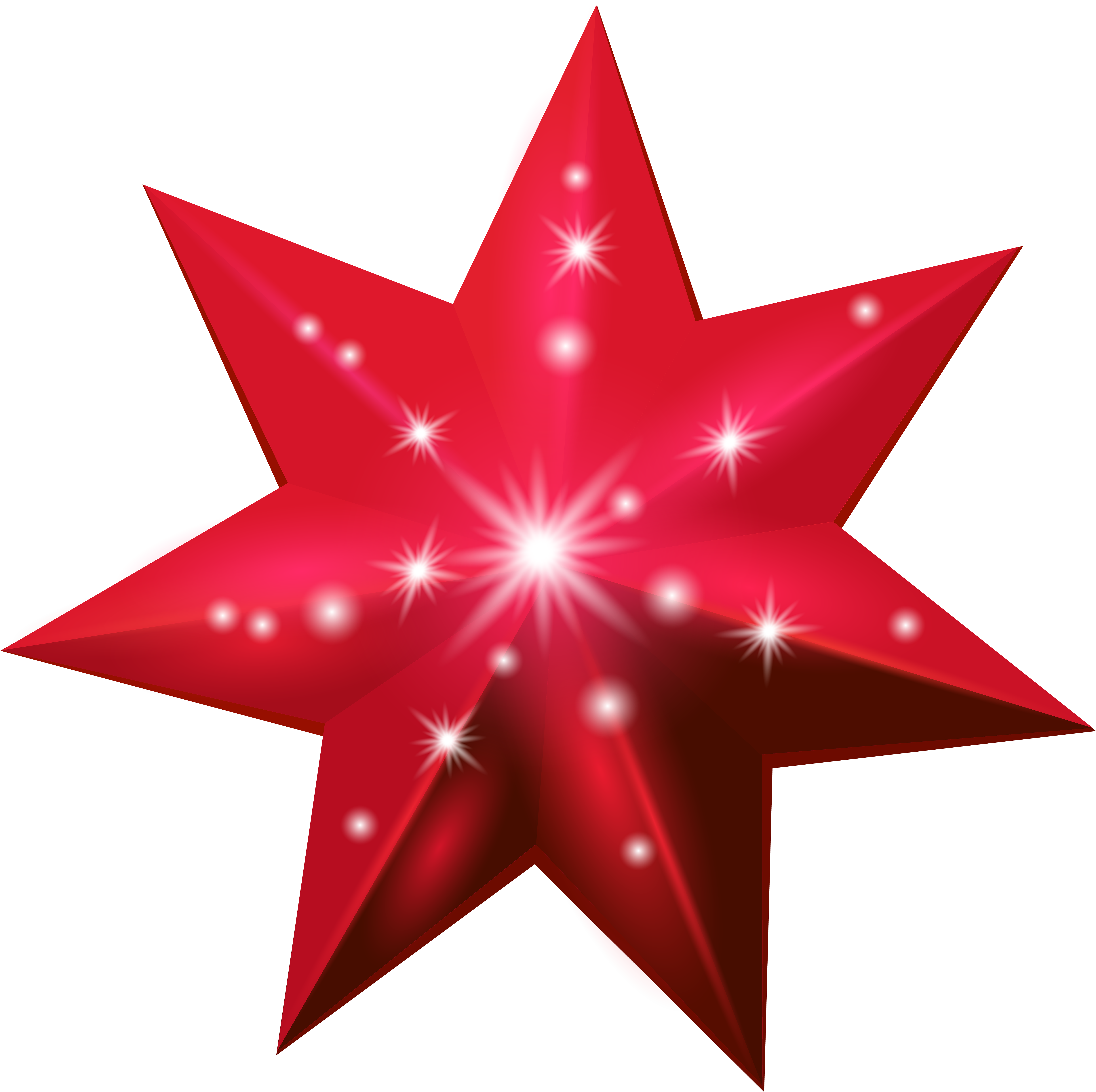 Red star png. Deco transparent clip art