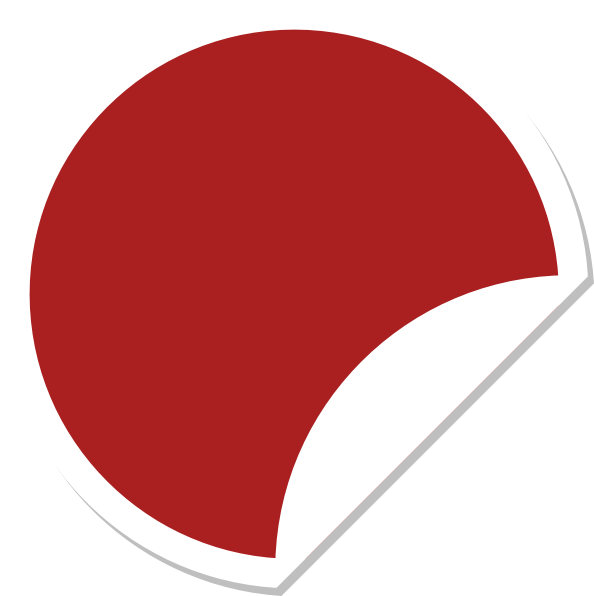Red sticker png. Shadow clip art at