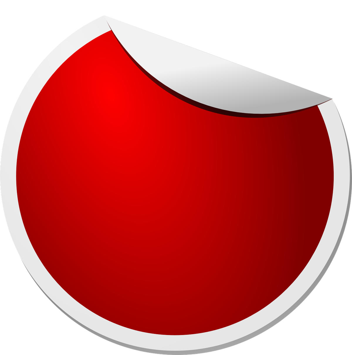 Red sticker png. Label clip art circle