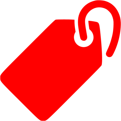 Red tag png. Icon free price icons