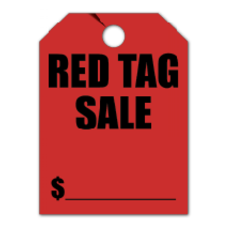 Red tag sale png. Hang only
