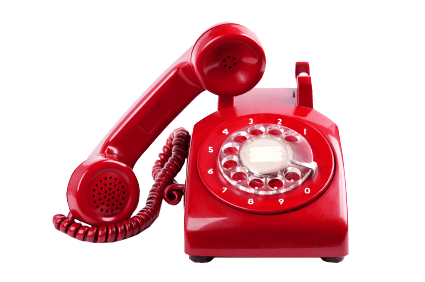 Telephone transparent red. Background image