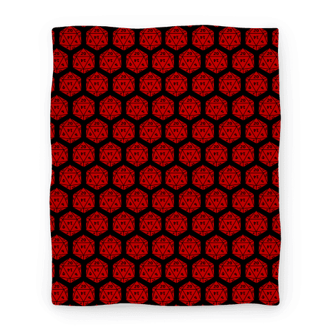 Red throw blanket png. D dice lookhuman
