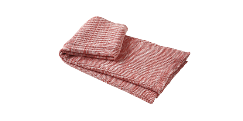Transparent blanket red cotton. Ruby pink throw blankets
