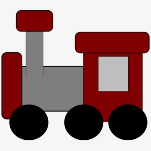 Red train. Clip art at clker