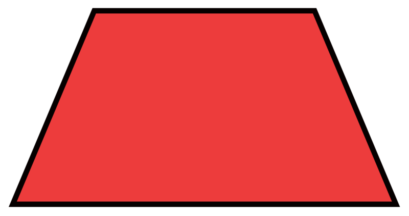 Red trapezoid png. Quadrilateral classifications read user