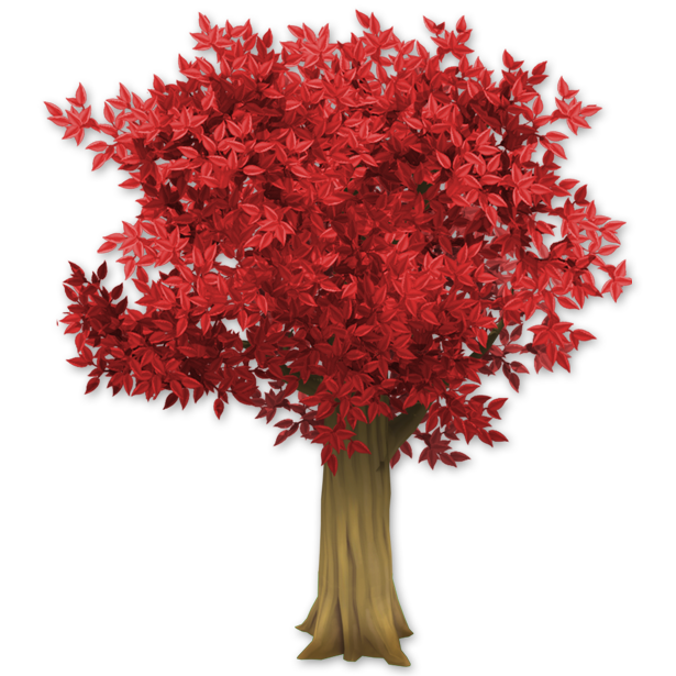 Red tree png. Image hay day wiki